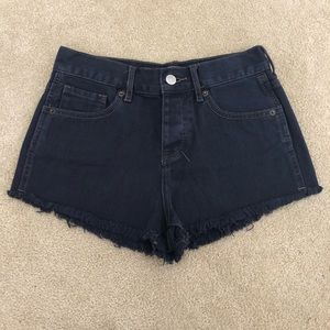 Brandy Melville High Rise Button Fly Jeans Shorts